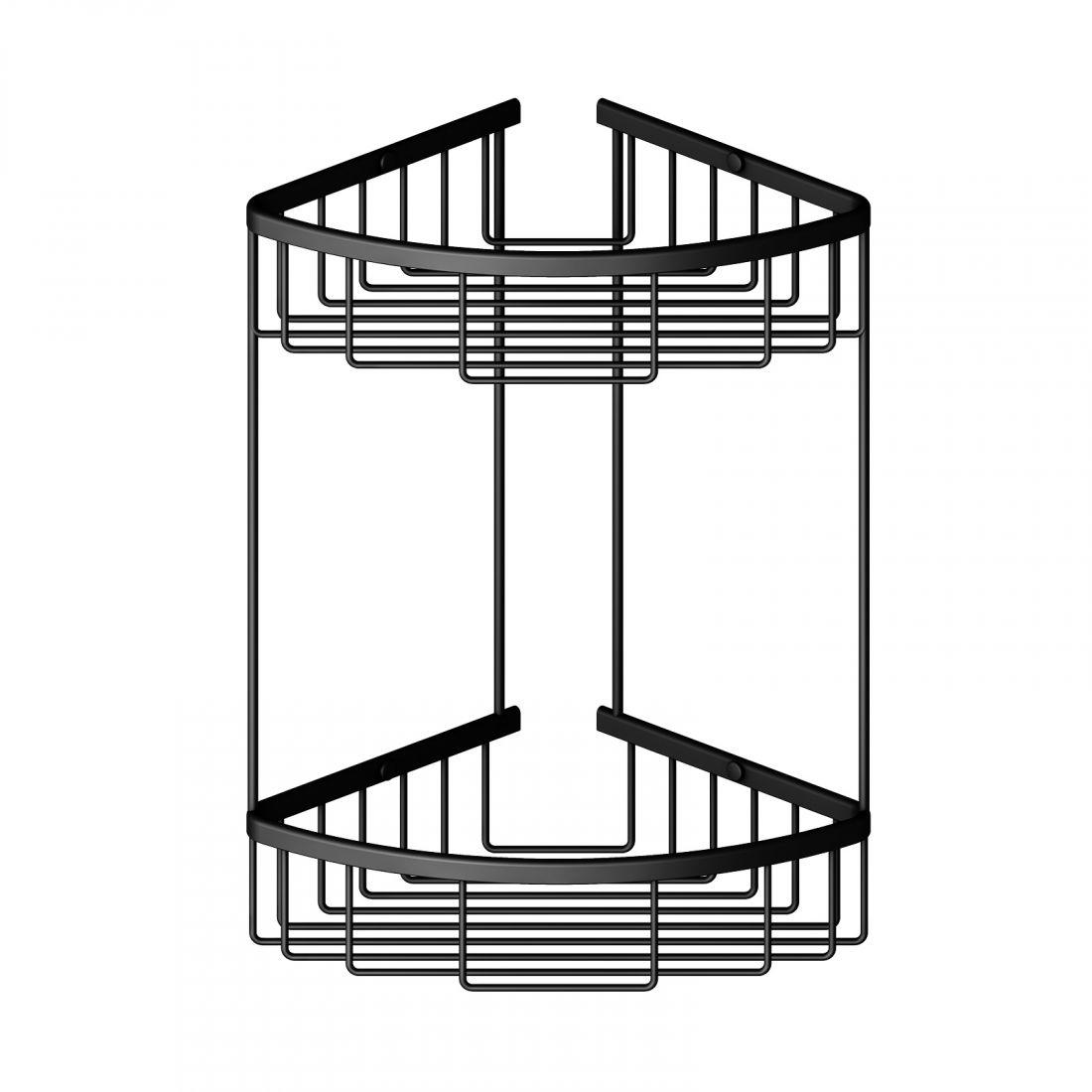 Полка угловая двойная Timo Saona (13082/03) черный