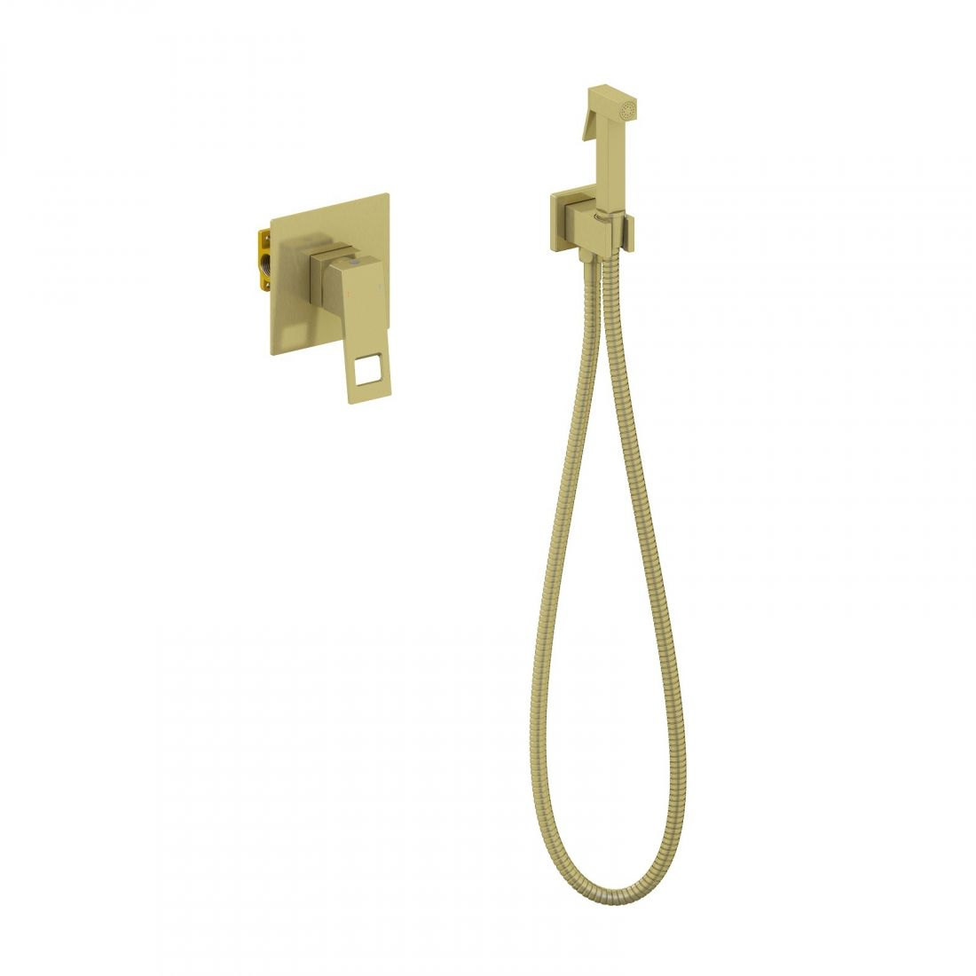 Смеситель встроенный с гигиеническим душем Timo Briana (7189/17SM) золото матовое