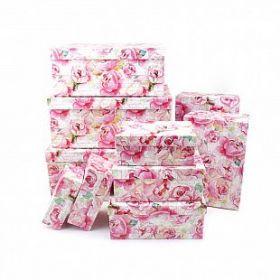 """Набор подарочных коробок 10 в 1 """"Розы"""""""