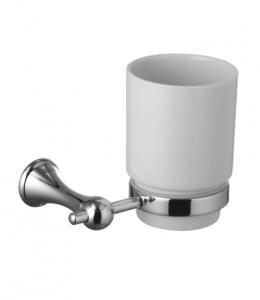 Стакан керамический для зубных щеток с настенным держателем Lemark Standard (LM2136C)