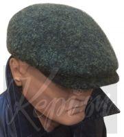 Кепи мужская шерстяная итальянка (зелёная, Италия)