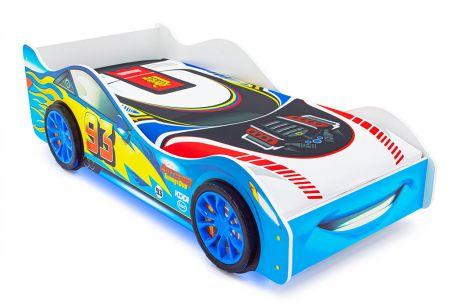 Кровать-машина «Тачка синяя» с подъемным механизмом