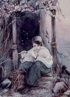 Почтовая открытка Мелодия для флейты