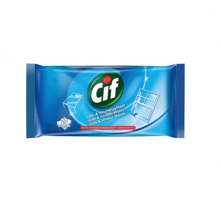 CIF Салфетки влажные для стекол 20 шт