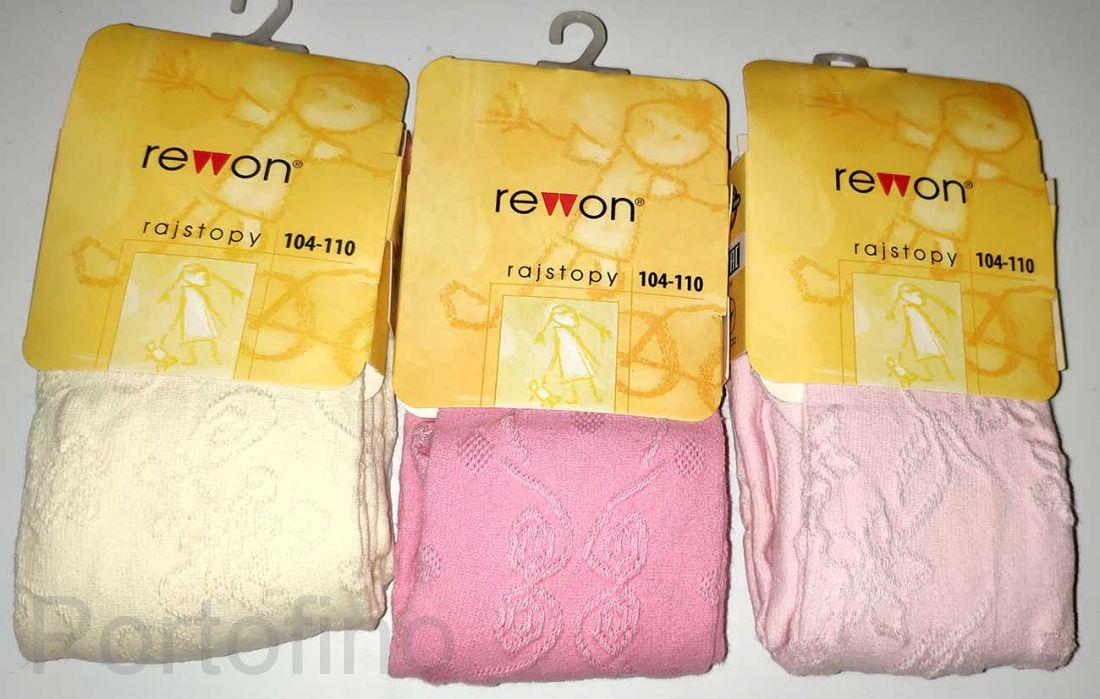 502-004 (104-110) Колготки однотонные для девочек  Rewon