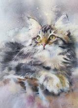 Postcard Watercolor cats 3
