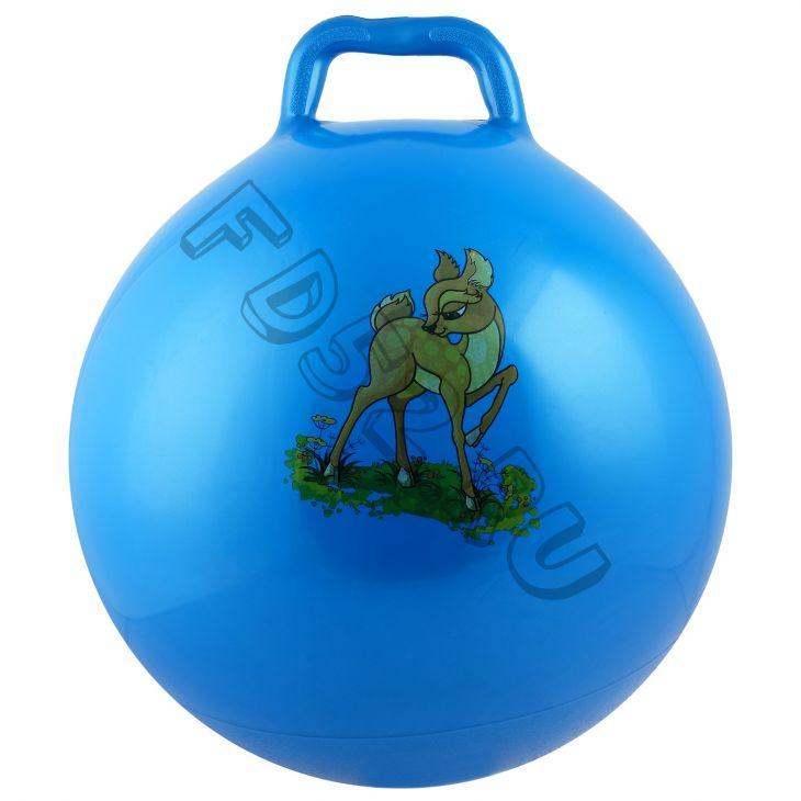 Мяч прыгун с ручкой «Девчонки и Мальчишки», d=55 см
