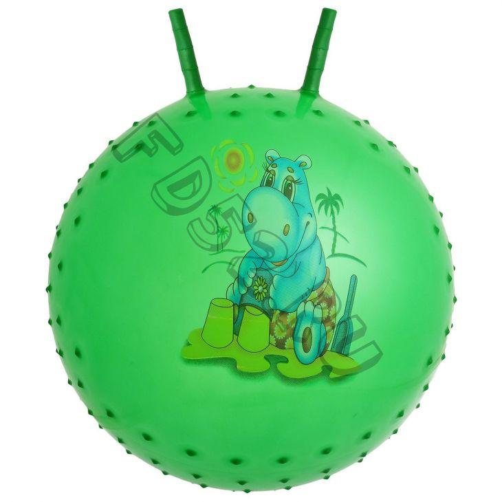 Мяч прыгун с рожками «Сказочные истории», массажный, d=65 см