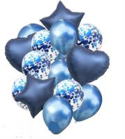 Цветные  гелиевые шары фонтан 1_28