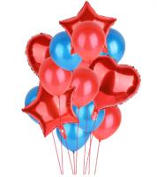 Цветные  гелиевые шары фонтан 1_4