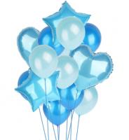 Цветные  гелиевые шары фонтан 1_6
