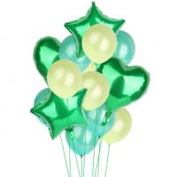 Цветные  гелиевые шары фонтан 1_7
