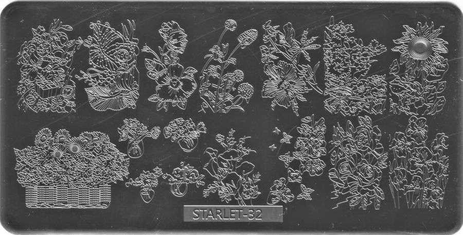 Стемпинг плитка высшее качество  STARLET-32