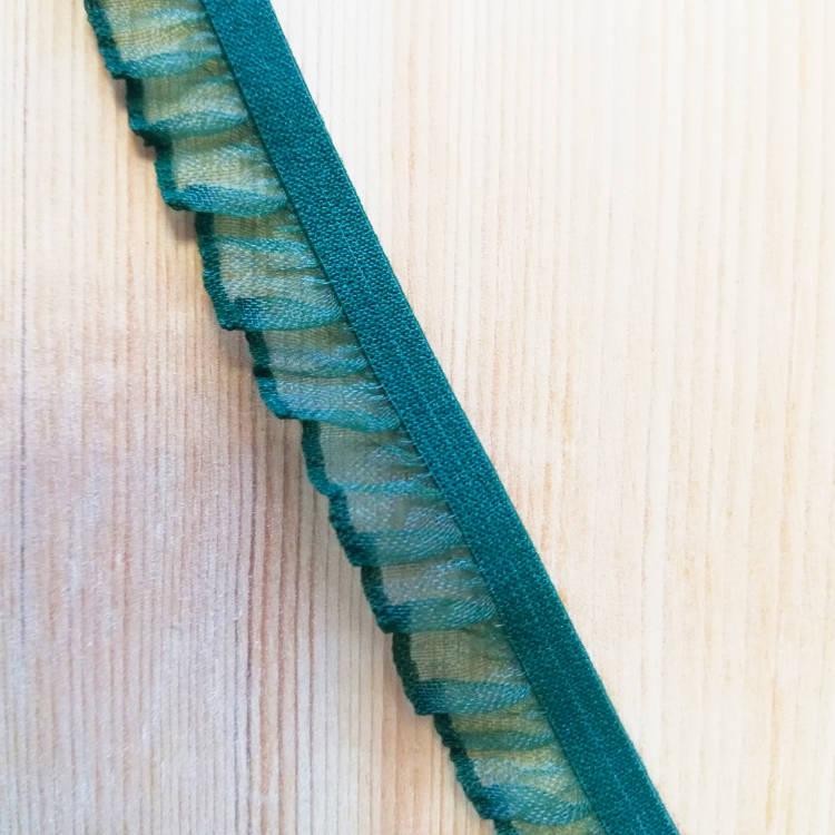 Резинка декоративная с рюшем из органзы PEGA 14 мм разные цвета (844158840)