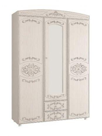 Шкаф 3 - х дверный с зеркалом Каролина (1500) (Патина)