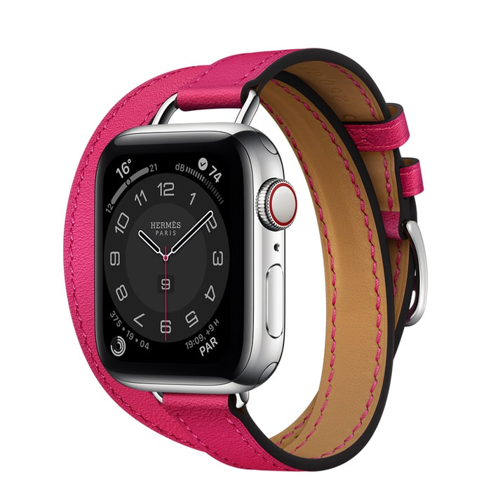Apple Watch Hermes Series 6 40mm Stainless Steel GPS + Cellular Attelage Double Tour Rose Mexico