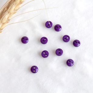 Набор мини пуговиц для творчества, Фиолетовый, 10 шт., 5 мм.