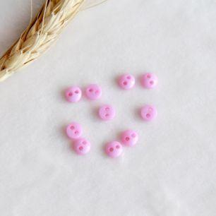Набор мини пуговиц для творчества, Розовый, 10 шт., 5 мм.