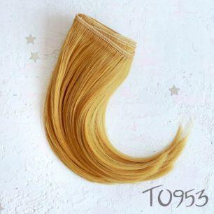 Трессы для создания причеcки куклам - Пшеничные 15 см.