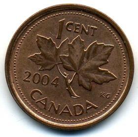 Канада 1 цент 2004 немагнит