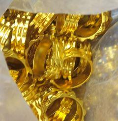 Кольцо проставочное на ось руля велосипеда золото