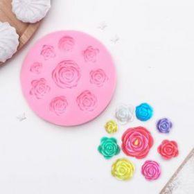 Молд силиконовый «Круговорот роз», 9,5 см