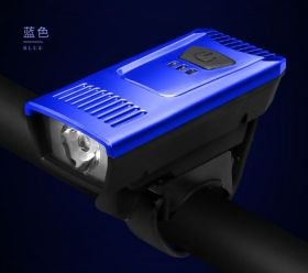 Фонарь передний велосипедный USB синий
