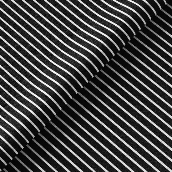 Трикотаж - Узкая черная полоска 50х40