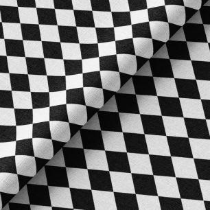 Хлопок Перкаль - Черно-белые ромбы 50х37