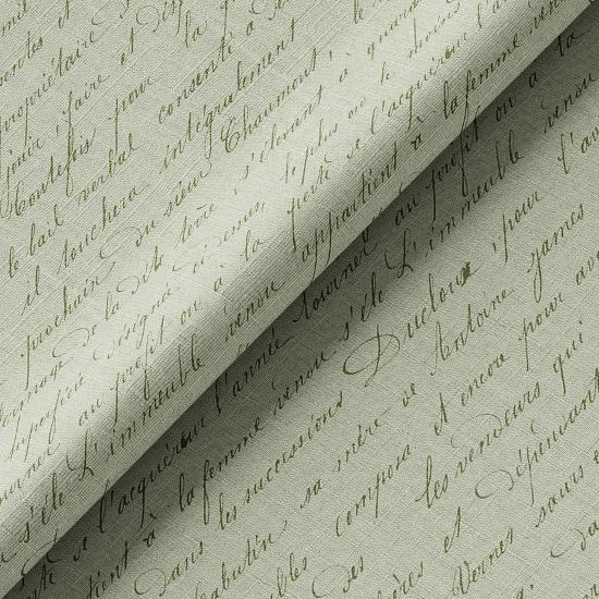 Хлопок Перкаль Винтаж рукопись на зеленом 50х37