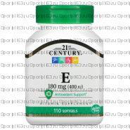 21st Century, Витамин Е, 180 мг (400 МЕ), 110 мягких желатиновых капсул