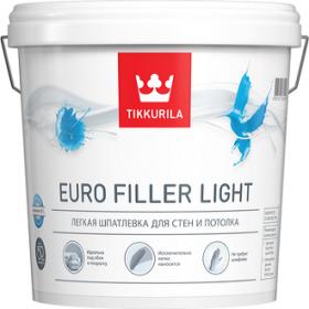 Шпатлевка Финишная Tikkurila Euro Filler Light 0.9л Легкая для Стен и Потолков / Тиккурила Евро Филлер Лайт