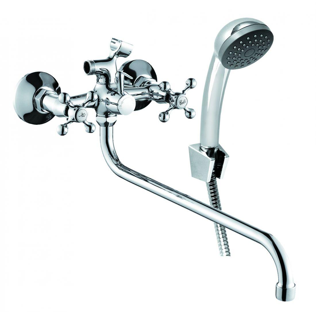 Смеситель для ванны с длинным изливом с аксессуарами ELC2610