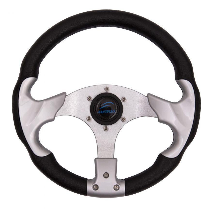 Колесо рулевое пластик+полиуретан 330мм