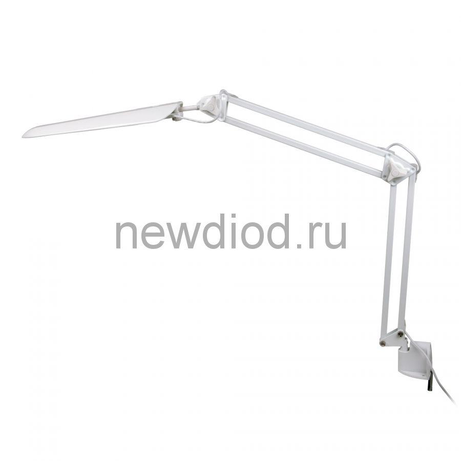 Светильник настольный на струбцине TLD-524 White/8W/LED/500Lm/4500K/Dimmer/Цвет-белый