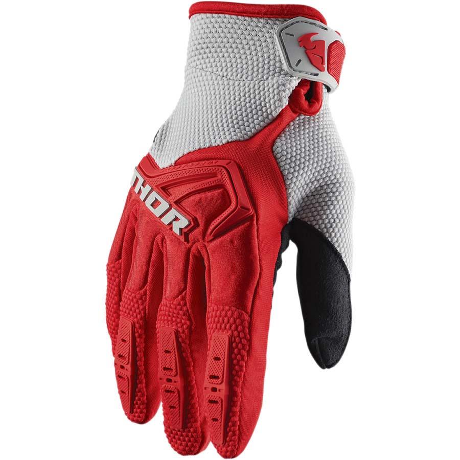 Thor Spectrum Red/Gray перчатки для мотокросса и эндуро