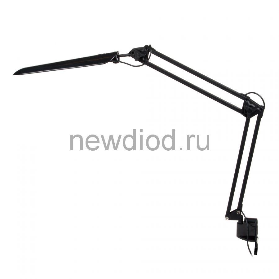 Светильник настольный на струбцине TLD-524 Black/8W/LED/500Lm/4500K/Dimmer/Цвет-черный