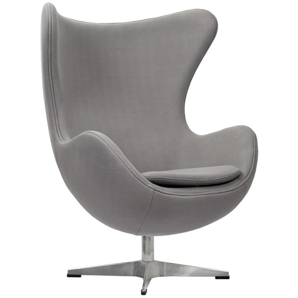 Кресло EGG CHAIR светло-серый кашемир