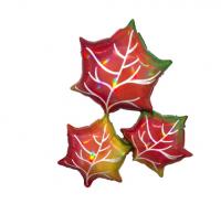Фигура Листья Кленовые переливы 76х63см шар фольга