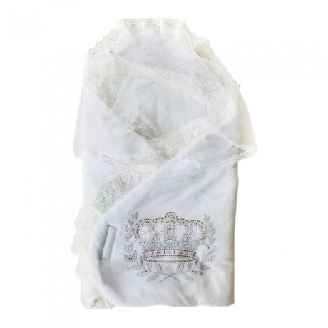 Конверт-одеяло на выписку БОЛЬШАЯ КОРОНА