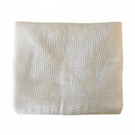 Одеяло-плед вязанный КОСИЧКИ, наполнитель 100г
