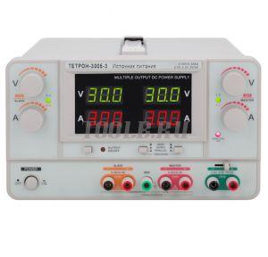 ТЕТРОН-3005-3 Линейный источник питания 3 канала 30 вольт 5 ампер