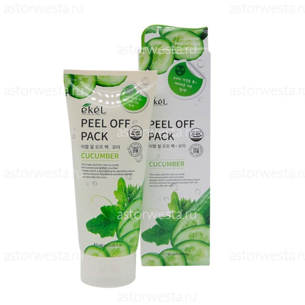 Ekel Peel Off Pack Cucumber, 180 мл Маска-плёнка с экстрактом Огурца