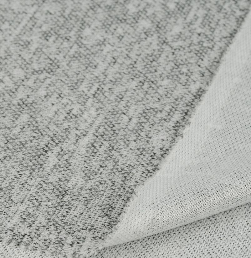 Лоскут трикотажной ткани - Сандра меланж серый 50х37 см