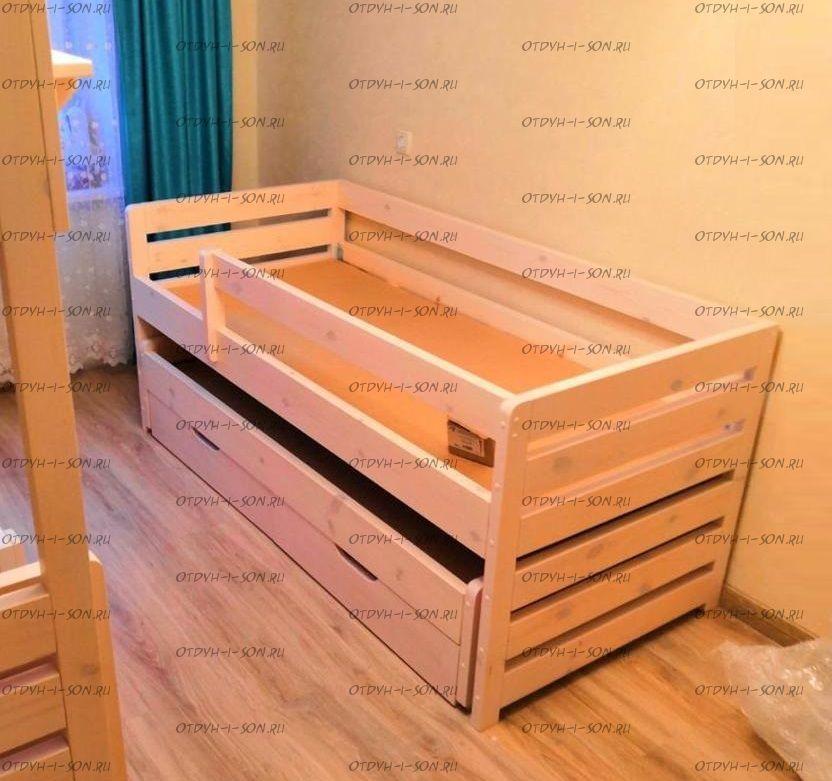 Кровать двухъярусная выкатная Меган №8W, любые размеры