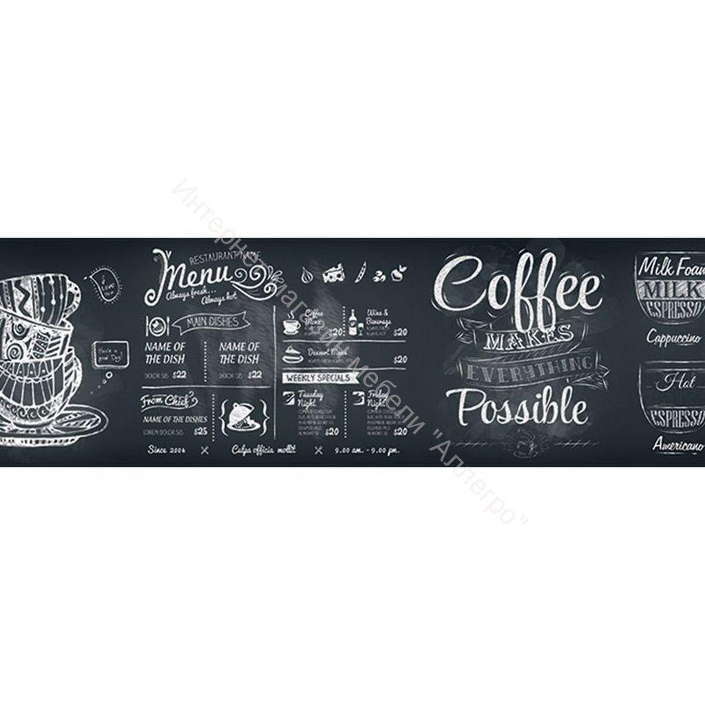Стеновая панель с фотопечатью  Меню темное 2800