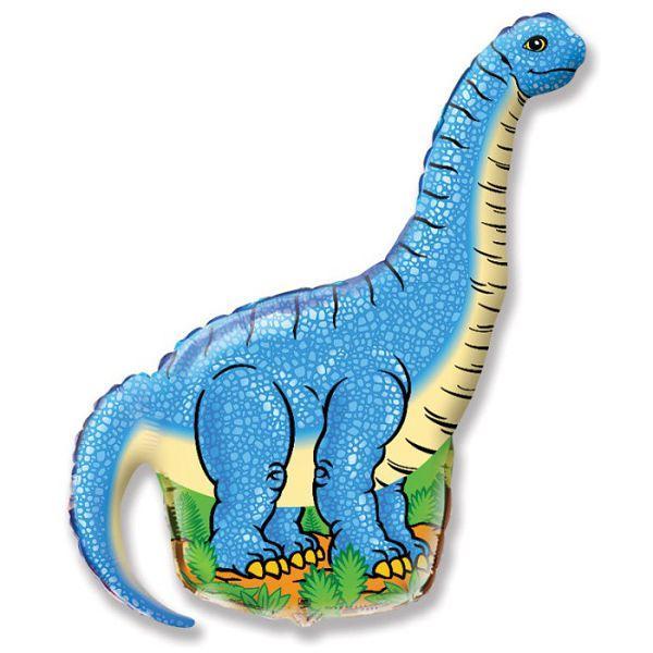 Шар фольга Фигура Динозавр голубой