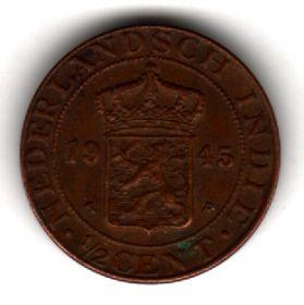 Нидерландская Ост-Индия 1/2 цента 1945 P