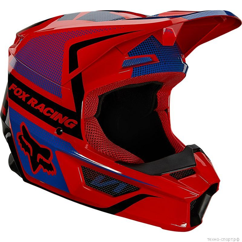 Мотошлем Fox V1 Oktiv Helmet Flow Red