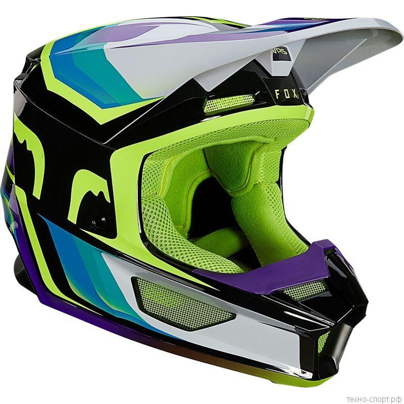 Мотошлем Fox V1 Tro Helmet Aqua